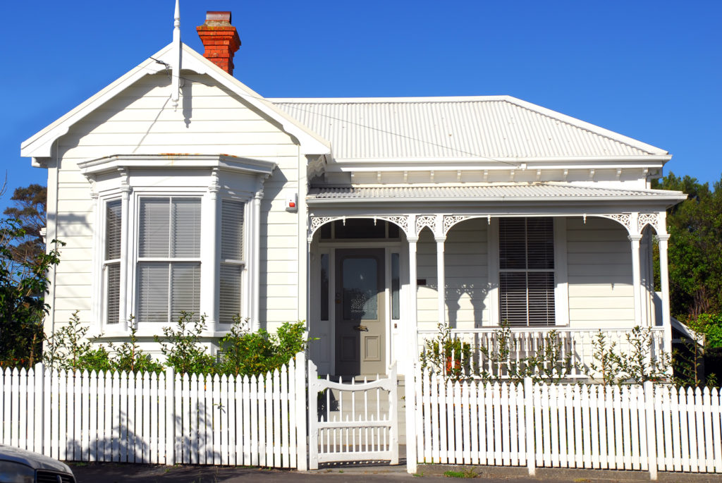 Classic New Zealand villa (cottage) in Colonial style.